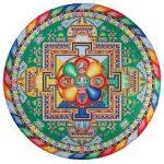 mandala tibétain sable