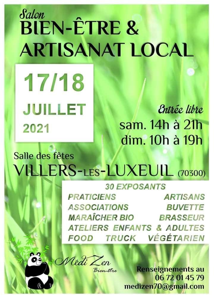 salon zen Villers ls Luxeuil 17 et 18 juillet